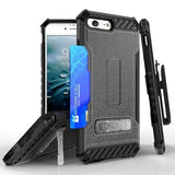Tri Shield Kombo Case For Apple iPhone 7 / 8 Black Leather Print