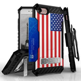 Tri Shield Kombo Case For Apple iPhone 7 / 8 3D USA Flag