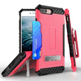 Tri Shield Kombo Case For Apple iPhone 7 / 8 Hot Pink Leather Print