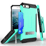 Tri Shield Kombo Case For Apple iPhone 7 / 8 Mint Leather Print