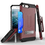 Tri Shield Kombo Case For Apple iPhone 7 / 8 Burgundy Leather Print