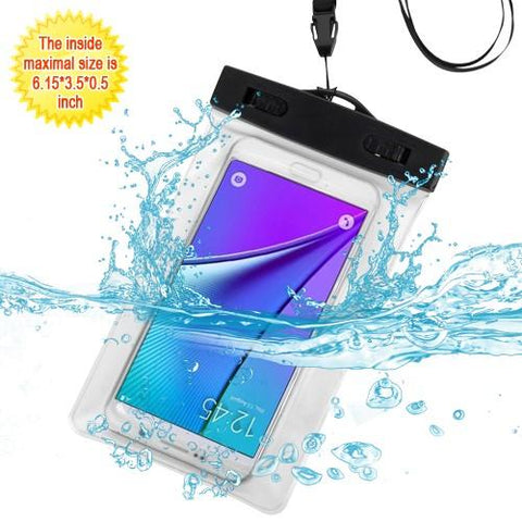 Universal Waterproof Bag for Apple iPhone 7 Plus / 8 Plus and Similar Sized Phones - Clear (w/ Lanyard and Armband)