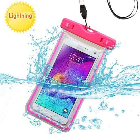 Universal Lightning Waterproof Bag - Hot Pink (with Lanyard) (with Package)