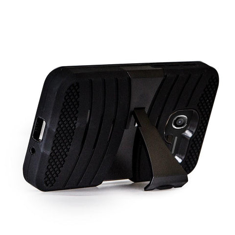 Alcatel TRU / Stellar - UCASE PC & Silicon w/ Kickstand - Black