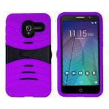 Alcatel TRU / Stellar - UCASE PC & Silicon w/ Kickstand - Purple