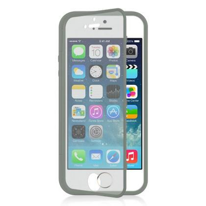 Apple iPhone 5 / 5S / SE Luxmo Wrap - Up W/ Screen Protector Case - Grey