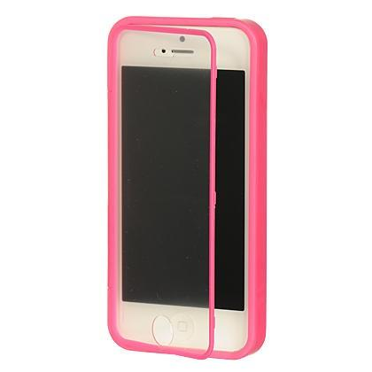 Apple iPhone 5 / 5S / SE Luxmo Wrap-Up Case w/ Screen Protector - Hot Pink