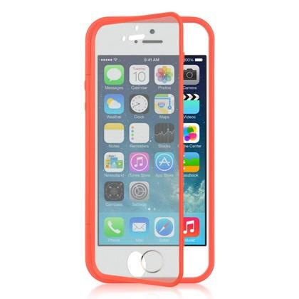 Apple iPhone 5 / 5S / SE Luxmo Wrap-Up Case w/ Screen Protector - Red