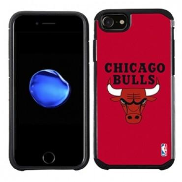 NBA Licensed Slim Hybrid Texture Case for Apple iPhone 6 / 6S / 7 / 8 - Chicago Bulls