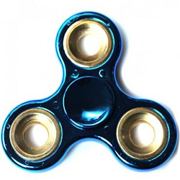 Fidget Spinner Toy Stress Reducer - Chrome Blue