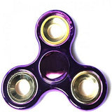 Fidget Spinner Toy Stress Reducer - Chrome Purple
