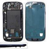 Front Cover w/ Home Button Key and Volume Button and On / Off Button for Samsung Galaxy i9300 / i535 / i747 / L710 / R530 / T999 Galaxy S3 - Blue