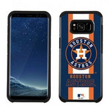 MLB Licensed Slim Hybrid Texture Case for Samsung Galaxy S8  - Houston Astros