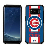 MLB Licensed Slim Hybrid Texture Case for Samsung Galaxy S8  - Chicago Cubs