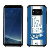 MLB Licensed Slim Hybrid Texture Case for Samsung Galaxy S8  - Los Angeles Dodgers