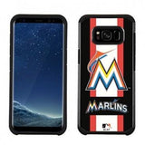 MLB Licensed Slim Hybrid Texture Case for Samsung Galaxy S8  - Miami Marlins