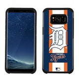MLB Licensed Slim Hybrid Texture Case for Samsung Galaxy S8  - Detroit Tigers