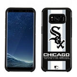 MLB Licensed Slim Hybrid Texture Case for Samsung Galaxy S8  - Chicago White Sox