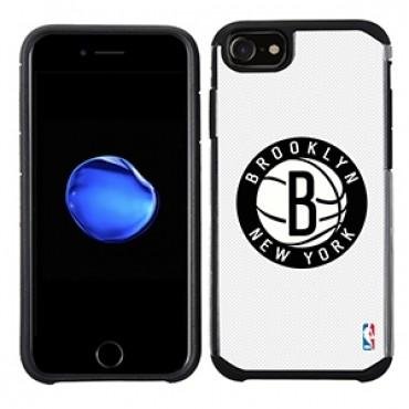 NBA Licensed Slim Hybrid Texture Case for Apple iPhone 6 / 6S / 7 / 8 - Brooklyn Nets