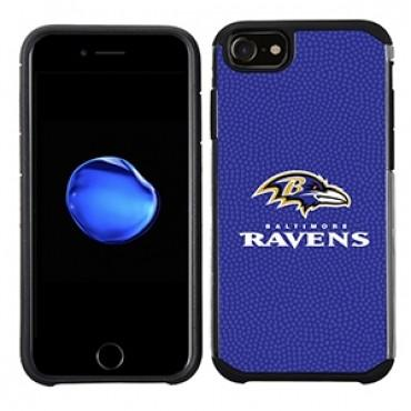 NFL Licensed Slim Hybrid Texture Case for Apple iPhone 6 / 6S / 7 / 8 - Baltimore Ravens