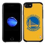 NBA Licensed Slim Hybrid Texture Case for Apple iPhone 6 / 6S / 7 / 8 - Golden State Warriors