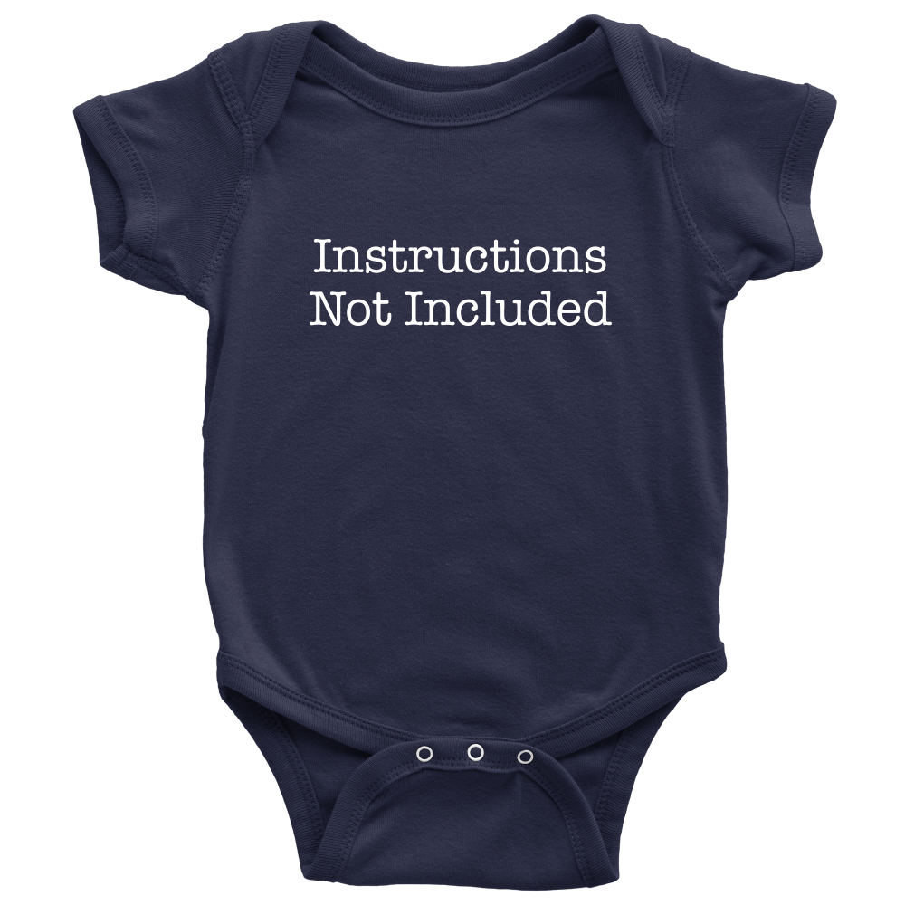 Instructions Not Included - Hilarious Blue Newborn Baby Onesie