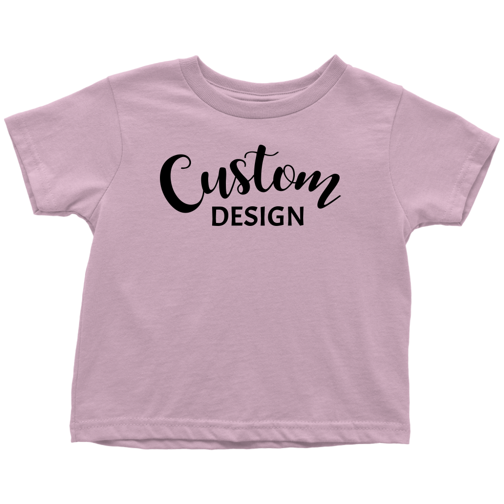 Custom Toddler T-Shirt - Pink