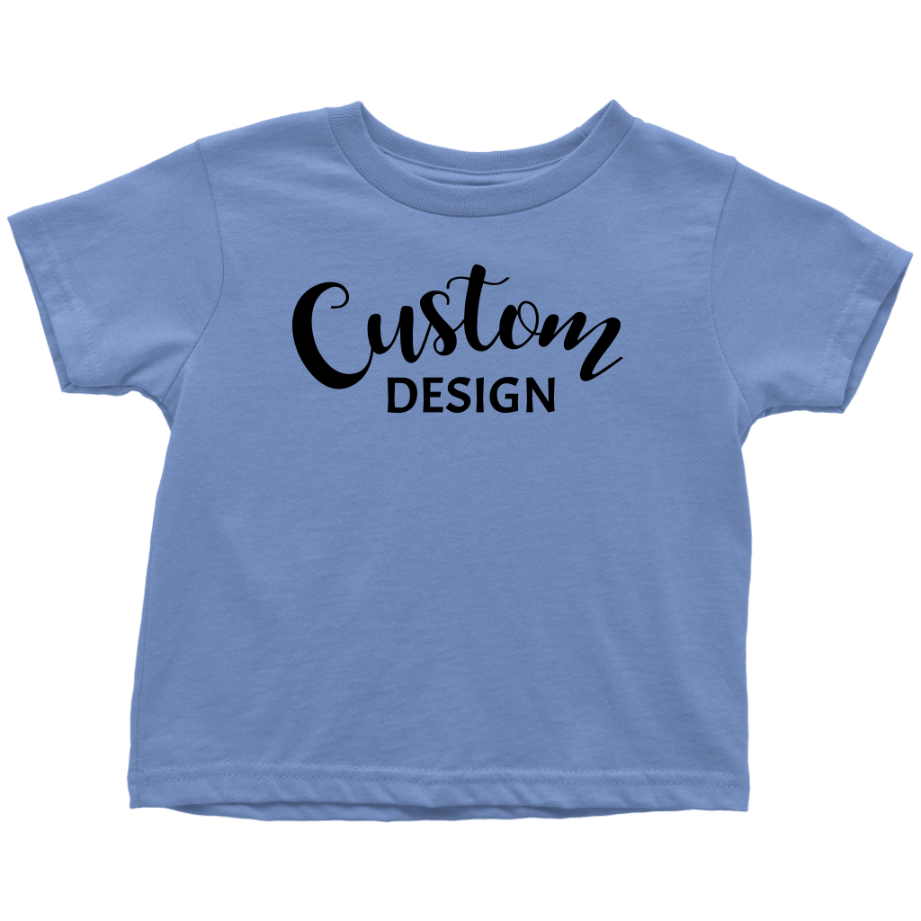 Custom Toddler T-Shirt - Blue