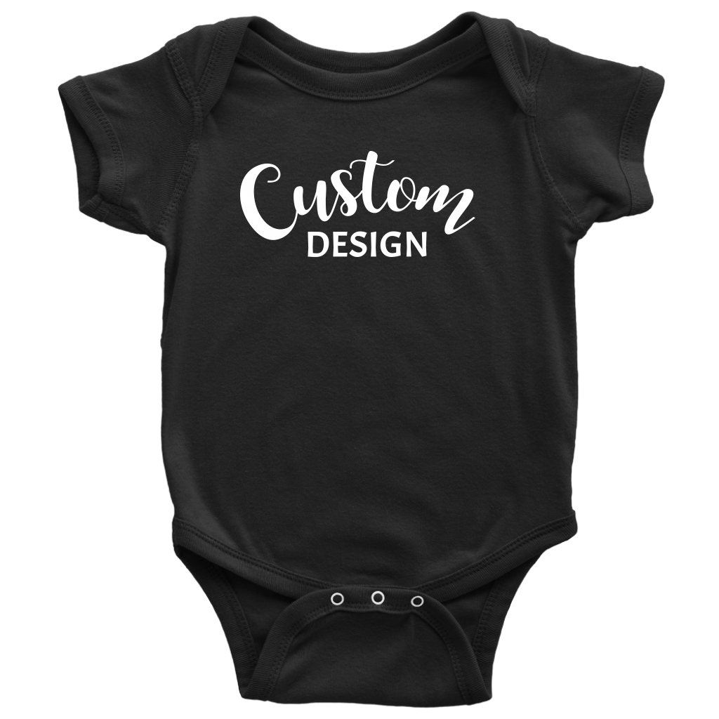 Custom Baby Onesie - Black