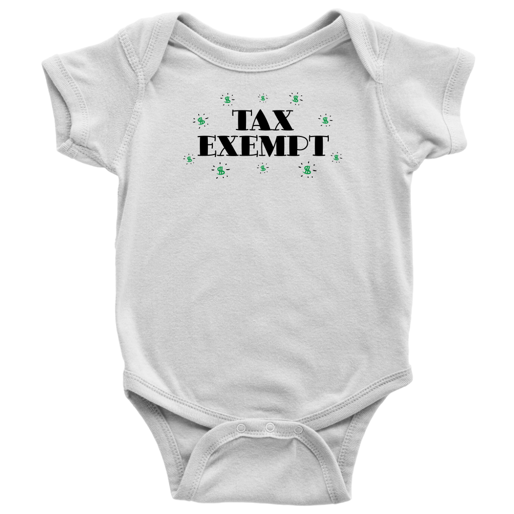 Tax Exempt - Funny Baby Bodysuit