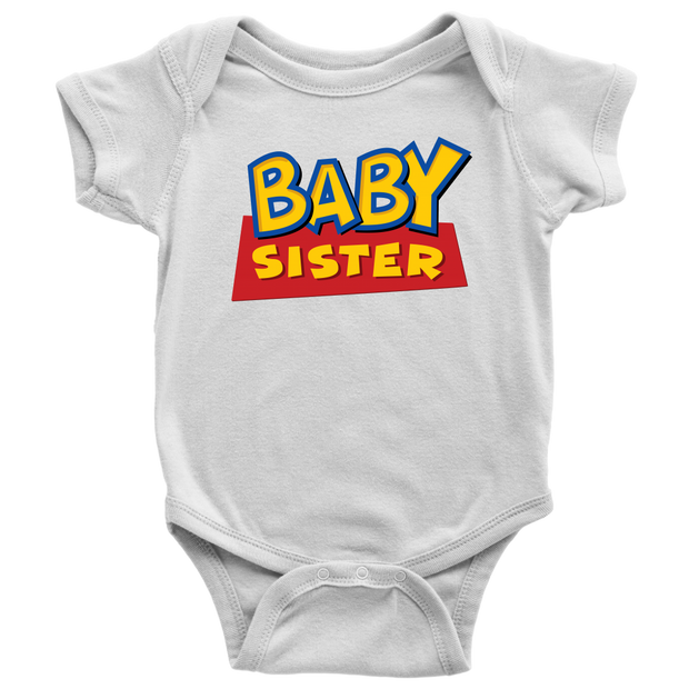 Baby Sister - Toy Story Inspired Toddler T-Shirt - White