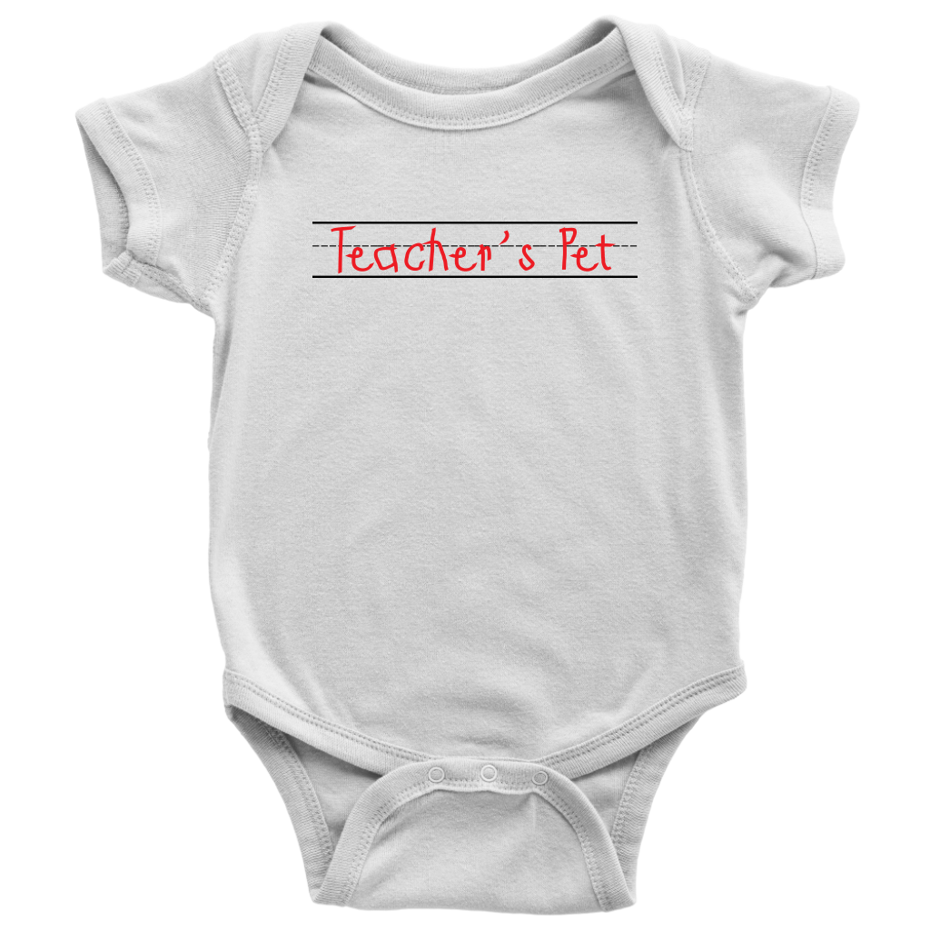 Teacher's Pet Baby Bodysuit - White