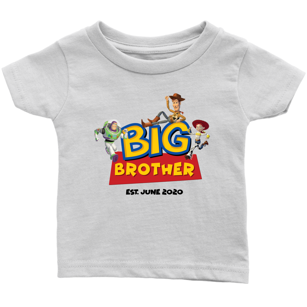 Custom Big Brother Toy Story Inspired Infant Shirt with Characters- June 2020