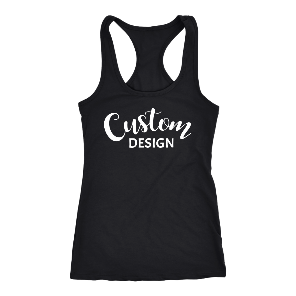 Custom Racerback Tank - Black
