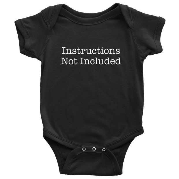 Instructions Not Included - Hilarious Black Newborn Baby Onesie
