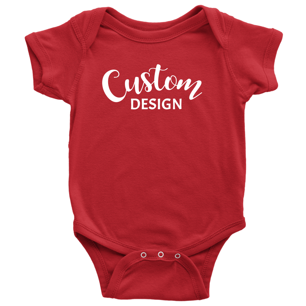 Custom Baby Onesie - Red