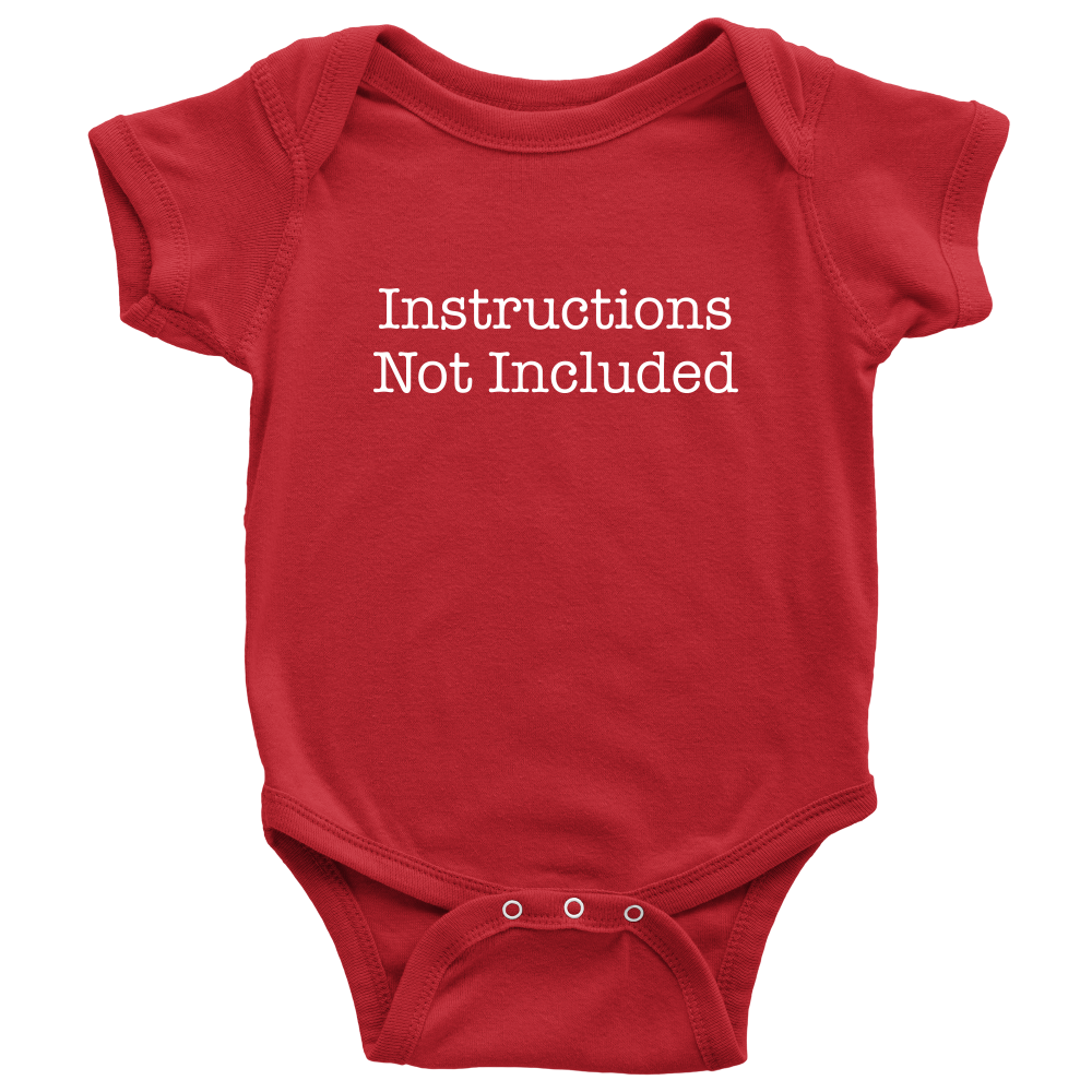 Instructions Not Included - Hilarious Red Newborn Baby Onesie