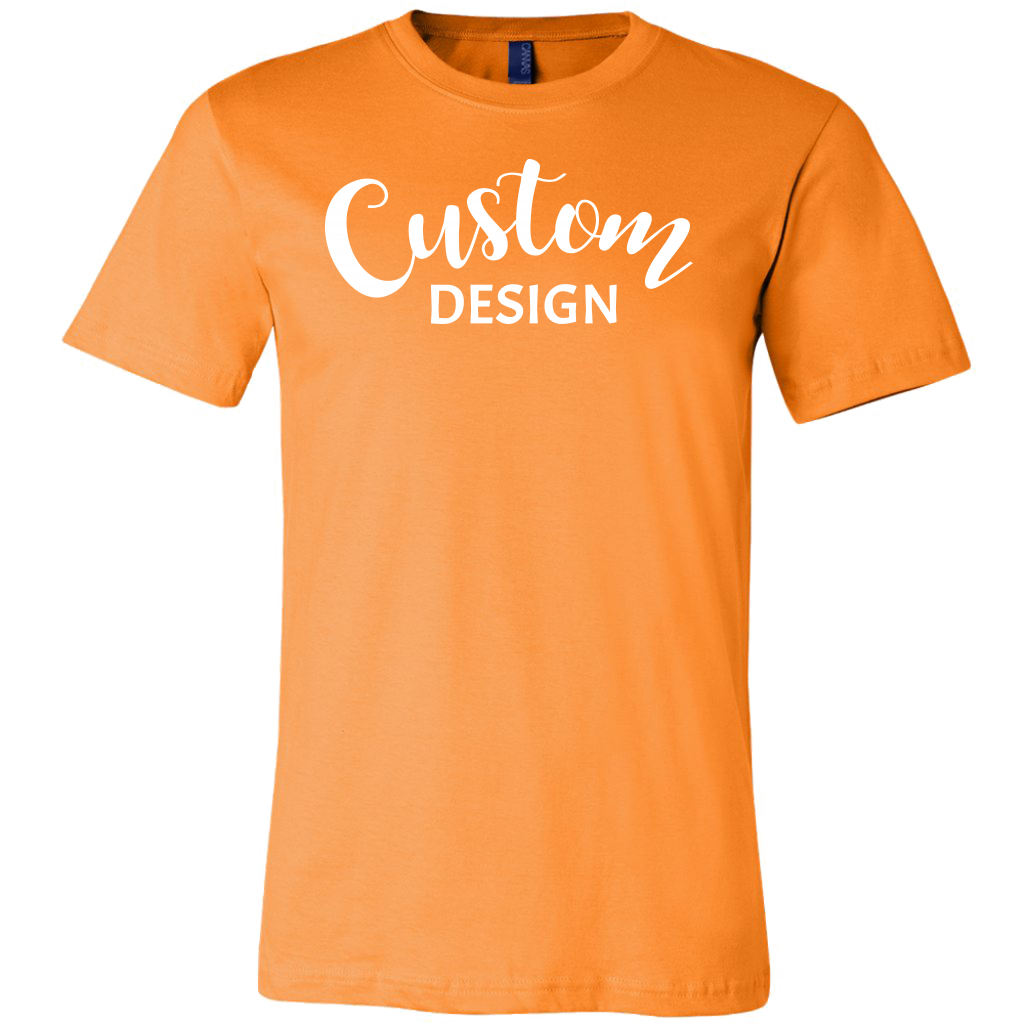 Custom Mens Shirt - Orange
