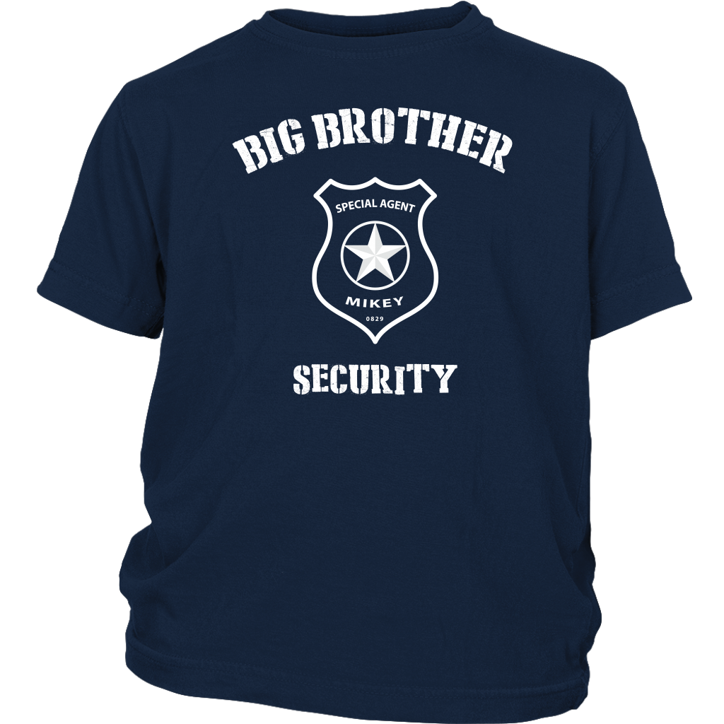 Custom Big Brother Security Youth Shirt - Mikey