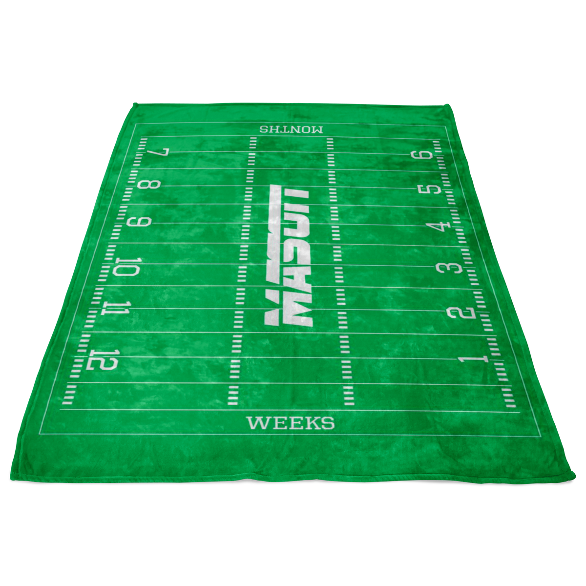 Custom Football Blanket - Mason