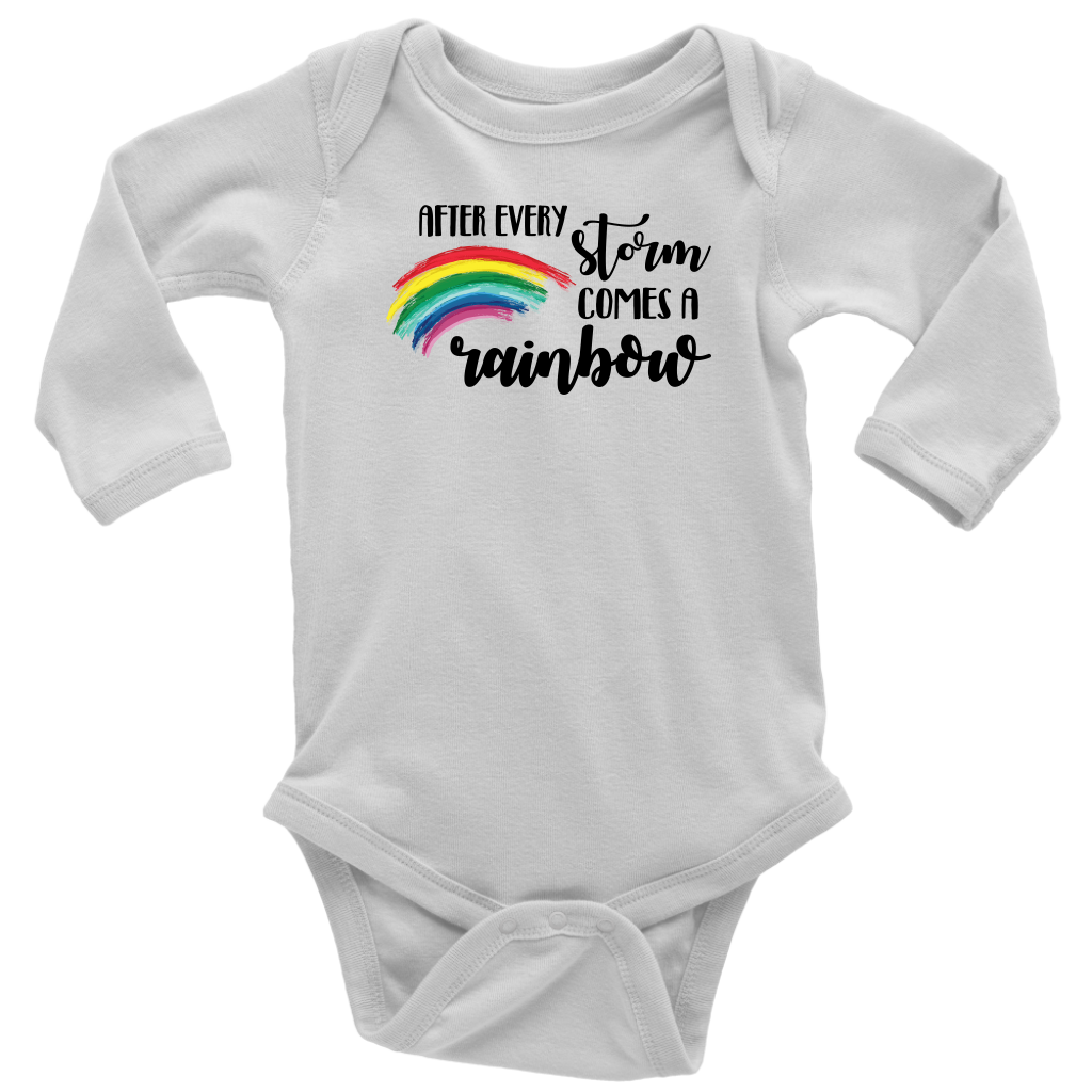 After Every Storm Comes A Rainbow - Baby Long Sleeve Bodysuit