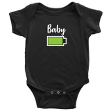 Baby - Full Battery Onesie - Funny Family Matching Shirt