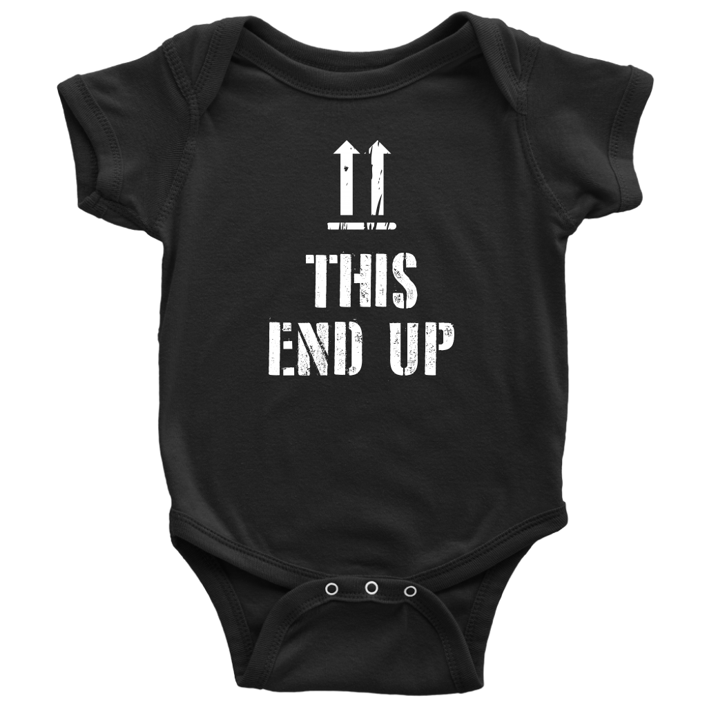 This End Up - Funny Baby Onesie - Black