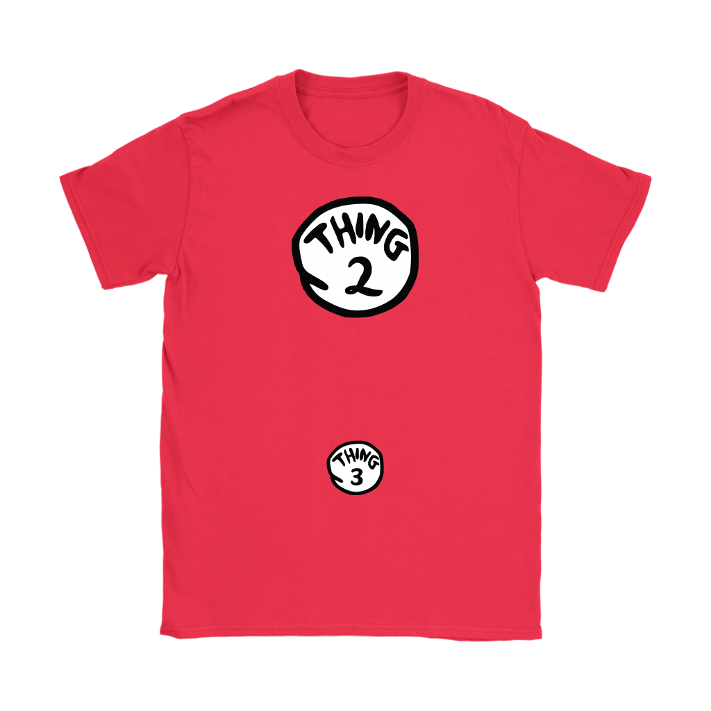 Thing 2 and Thing 3 - Women's Pregnancy Reveal T-Shirt