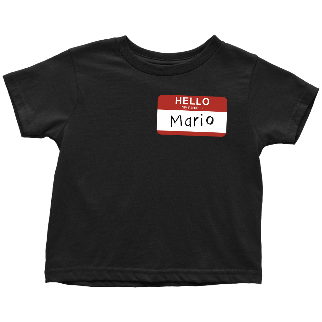 Custom Name Toddler shirt - Mario