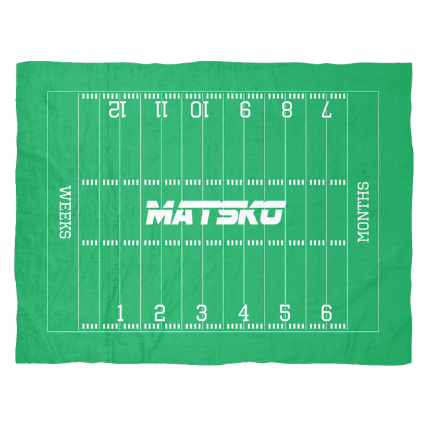Custom Small Football Monthly Milestone Blanket - Matsko