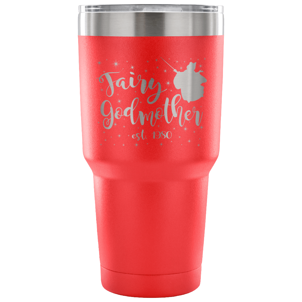 Custom Fairy Godmother 30 Ounce Vacuum Tumbler - Est 1980