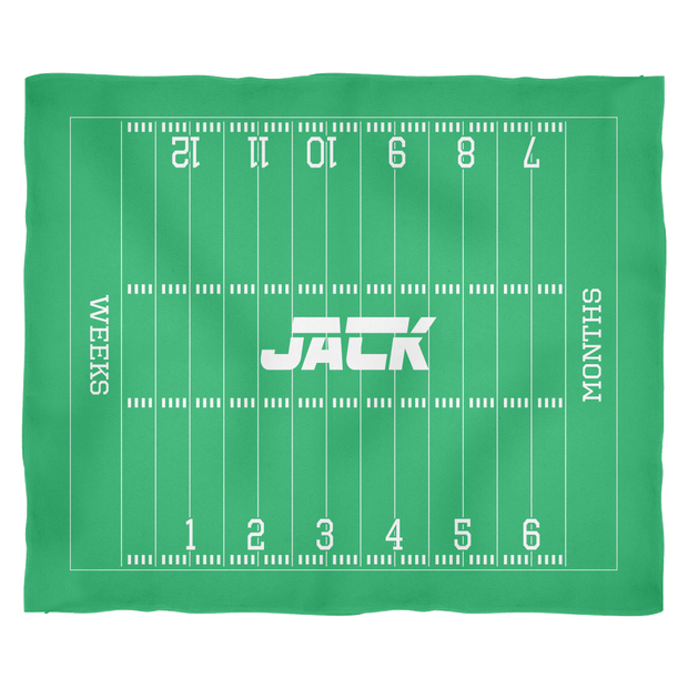 Custom Football Monthly Milestone Blanket - Jack