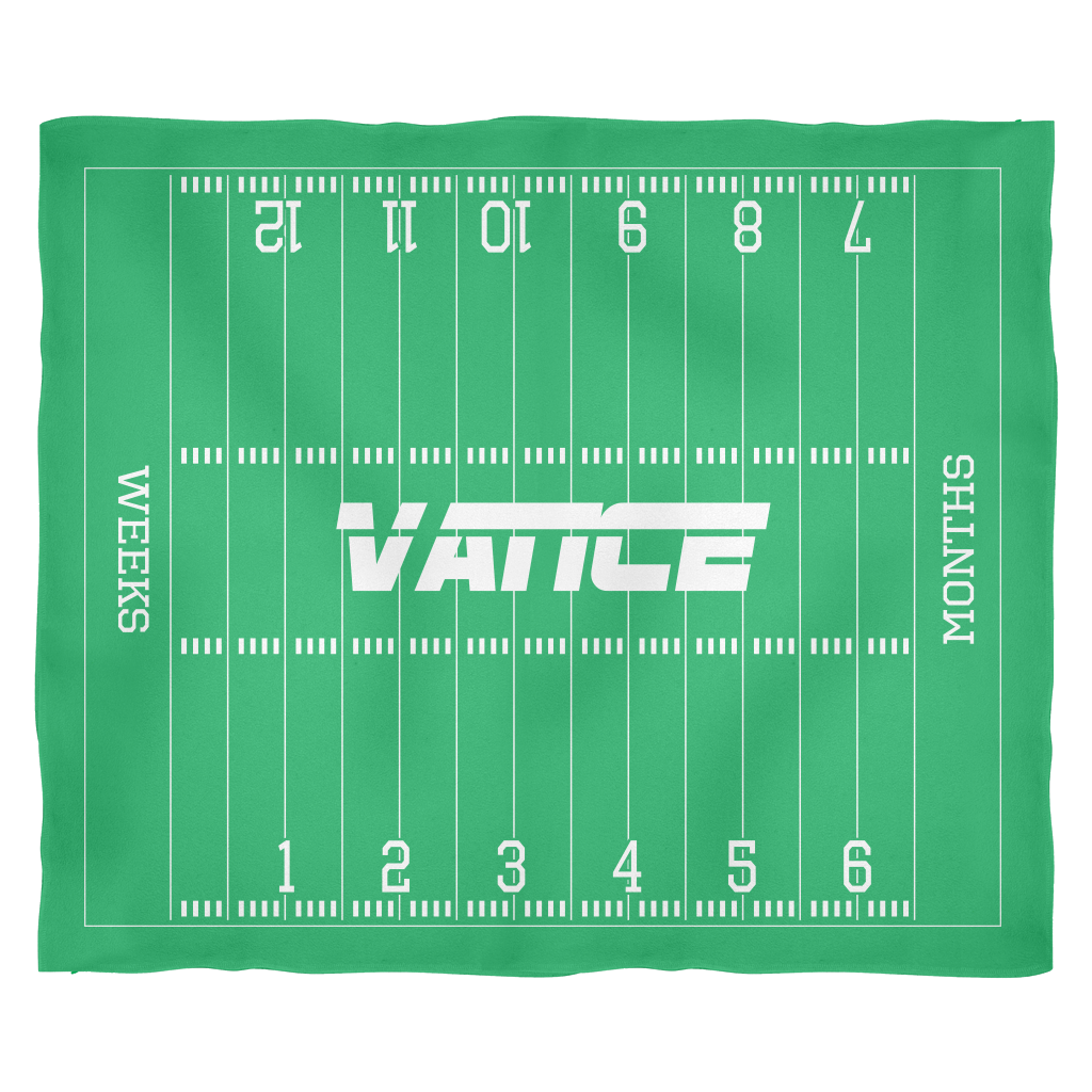 Custom Football Monthly Milestone Blanket - Vance