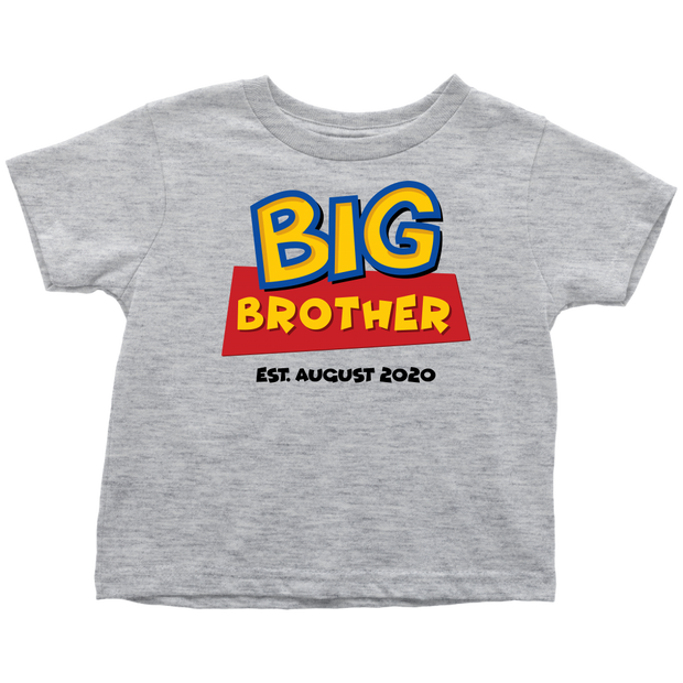 Custom Big Brother Toy Story Inspired Toddler Shirt - August 2020